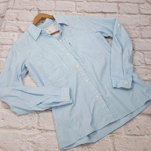 Exofficio women's Button-up Top blue sz XS